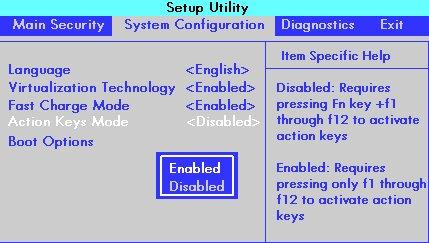 惠普 BIOS 设置功能键