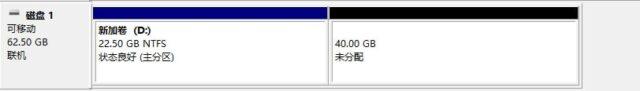 Win10磁盘管理 未分配