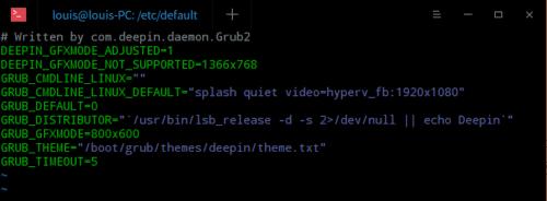 Hyper-V 下 Ubuntu/Deepin 如何设置分辨率