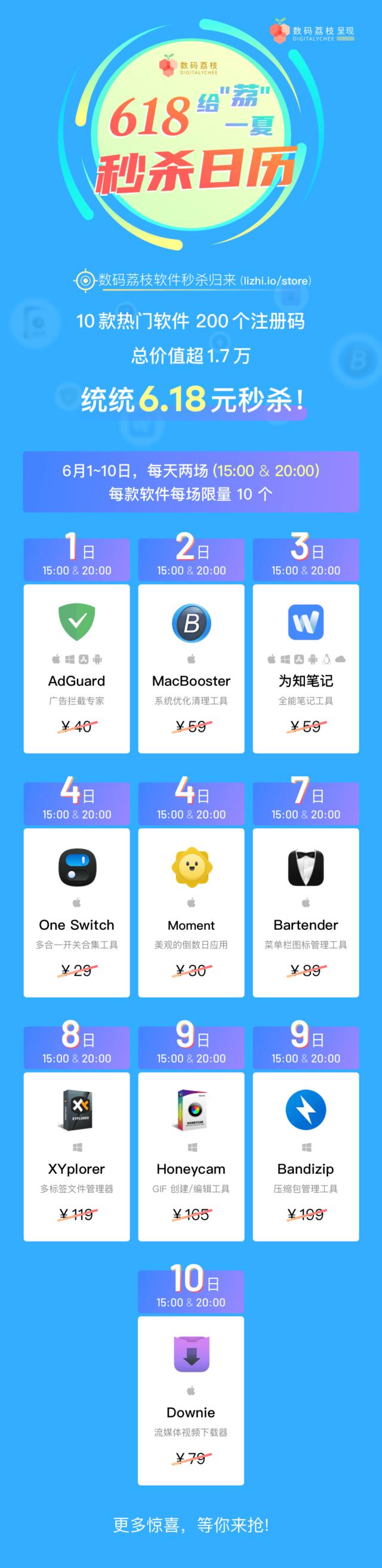 数码荔枝2021年618秒杀产品