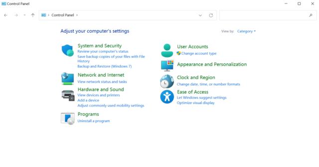Windows 11控制面板