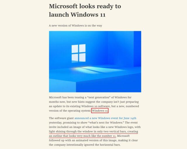 微软已经准备好推出 Windows 11